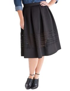Laser Cut Midi Skirt from eloquii.com