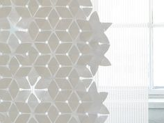Technical fabric curtain FLAKE by Woodnotes | design Mia Cullin