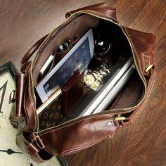 Handmade Leather Travel Bag.