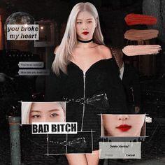 Portfolio Design Books, Picsart, Rose Icon, Rose Queen, Bts Girl, Blackpink Photos, Pretty Asian, K Idol, Bad Habits