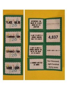 Place Value foldable - Math Journal!