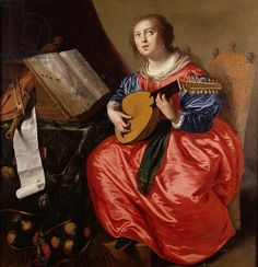 Saint Cecilia (oil on canvas) Dutch by Paulus Moreelse