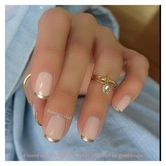 22 Awesome French Manicure Designs ❤ liked on Polyvore featuring beauty products, nail care and nail treatments