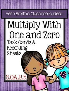 Fern's Freebie Friday ~ FREE Multiply With One and Zero Task Cards and Printables #free #tpt
