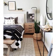 Romantic Bedroom Decor Ideas to Make Your Home More Stylish on a Budget - The Trending House Cozy Bedroom, White Bedroom, Bedroom Decor, Bedroom Ideas, Bedroom Designs, Bedroom Green, Bedroom Lighting, Ikea Bedroom, Bedroom Wardrobe