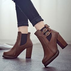 new arrival 2358a 18e26 Zapatos de mujer - Tacón Robusto - Comfort   Botines - Botas - Vestido    Casual