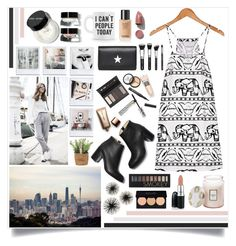 """""""Lazy But Stylish Day Out"""" by angelstylee ❤ liked on Polyvore featuring Prada, Paul Andrew, Borghese, Bobbi Brown Cosmetics, Givenchy, Leftbank Art, Nude by Nature, Voluspa, David Jones and Forever 21"""