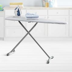 The Real Simple Ironing Board provides you with a sturdy surface to get your ironing tasks done. And, the bonus folding board helps get those crisp, pressed shirts perfectly folded for drawer storage.