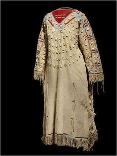 1900 Crow elk tooth dress.