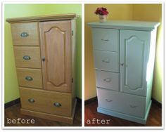 Painting particle board furniture.