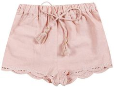 Embroidery Trimmed Shorts