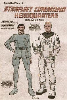 Starfleet Uniforms - Dave Cockrum (1980)