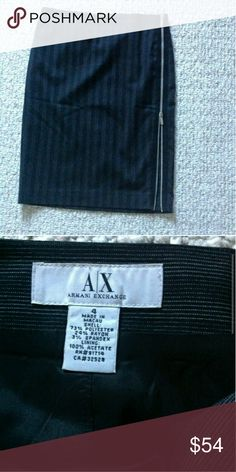 Armani Exchange Pencil Skirt Like new great condition with a zipper on the side but iam modeling it different way because i like it better. Armani Exchange Skirts Midi