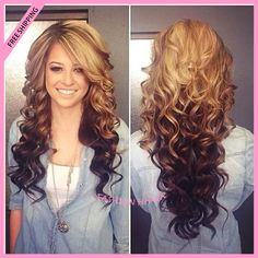 long hair curls wedding - without the color change