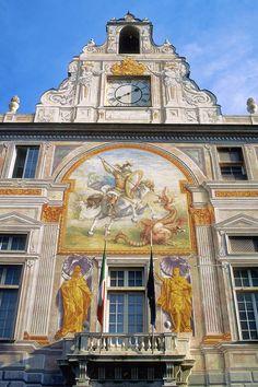 The gorgeous exterior of Palazzo San Giorgio – Genova.