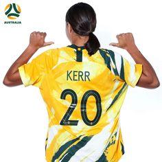 Sam Kerr Australia Matildas, wearing Nike's 2019 World Cup kit Soccer Players, Matilda, World Cup, Football, Australia, Kit, Woman, Room, How To Wear