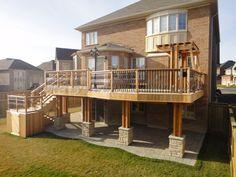 Cedar deck with pergola - Toronto decks design & deck building company, PVC, Azek and Cedar