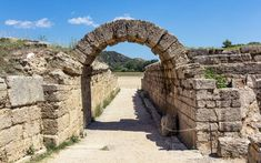 Photo about Olympia ancient stadium in Greece. Image of peloponnese, peloponnesus, greece - 70230959 Olympia Greece, Olympic Flame, Things To Do, Old Things, Old Farm Houses, Family Road Trips, Olympics, Mount Rushmore, Stock Photos
