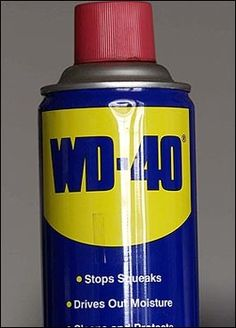WD-40 USES:           1. Protects silver from tarnishing.      2. Removes road tar and grime from cars.      3. Cleans and lubricates guitar strings.      4. Gives floors that just-waxed sheen without making them slippery.      5. Keeps flies off cows. (I love this one!)      6. Restores and cleans chalkboards.      7. Removes lipstick stains.      8. Loosens stubborn zippers.      9. Untangles jewelry chains.      10. Removes stains from stainless steel sinks.      11. Removes dirt a
