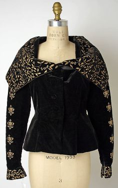 Evening jacket, Prince Tirtoff, New York, Textile by Coco Chanel, 1930s, American, silk and metallic thread