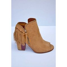 Fringe Peep-Toe Bootie (sold out)