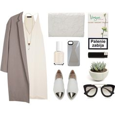 Nude by baludna on Polyvore featuring Organic by John Patrick, Miu Miu, Alexander Wang, Chloé, Prada, MARC BY MARC JACOBS and Essie