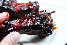 Chinese 5 Spice Chicken Wings With Sticky Soy, Balsamic Reduction Glaze