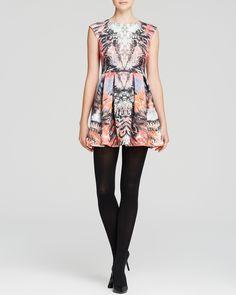 AQUA Dress - Ink Blot Scuba | Bloomingdale's