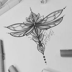 Tattoo sketch - Dragonfly and Lotus. - Tattoo sketch – Dragonfly and Lotus. Sketch draw … – Tattoo sketch – Dragonfly and Lotus. Body Art Tattoos, New Tattoos, Small Tattoos, Heart Tattoos, Dragonfly Tattoo Design, Tattoo Designs, Sternum Tattoo Design, Dragonfly Drawing, Tattoo Sketches
