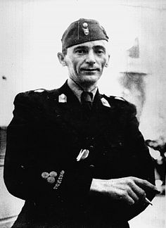 Jure Francetić (1912 — 1942) was a Croatian Ustaša Commissioner for the Bosnia and Herzegovina regions of the Independent State of Croatia (NDH) during World War II, and commander of the 1st Ustaše Regiment of the Ustaše Militia, later known as the Black Legion. In both roles he was responsible for the massacre of Bosnian Serbs and Jews.