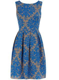 Modern shape+ classic, popular curtain design= perfect dress.