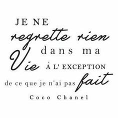 Black wall sticker Regrets nothing 45 x 60 cm- Sticker mural noir Regrette rien 45 x 60 cm Black wall sticker Regrets nothing 45 x 60 cm - The Words, Cool Words, Positiv Quotes, Quote Citation, French Quotes, Positive Attitude, Regrets, Beautiful Words, Quotes To Live By