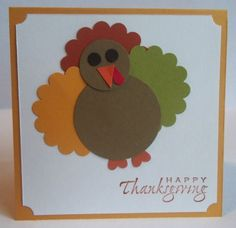 Stampin Up handmade greeting card Thanksgiving paper pieced TURKEY PY LOT group #Thanksgiving