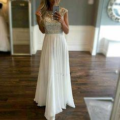 Prom Dress,Sexy Prom Dresses with Beading, Long Chiffon