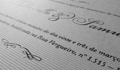 Convite Clássico com Impressão em Serigrafia