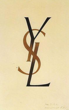 original YSL logo by Adolphe Mouron Cassandre by samlovesherdog, via Flickr