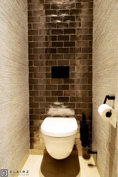 Small Toilet, Toilet Room, Downstairs Toilet, Tiny Bathrooms, Bathroom Toilets, Bathroom Inspiration, Powder Room, Decoration, New Homes