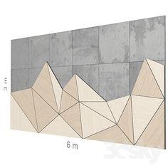 models: Other decorative objects - Decorative wall Wall Panel Design, Feature Wall Design, 3d Wall Panels, Office Interior Design, Interior Walls, Wood Wall Art, Wall Art Decor, Ideas Baños, Wall Cladding