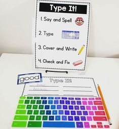 I love using a word typing center for fun sight word practice that also begins to get kids familiar with letter placement on a keyboard! Teaching Second Grade, Teaching Math, Third Grade, Learning Activities, Kids Sight Words, Sight Word Practice, Word Work Games, 2nd Grade Classroom, Classroom Setting