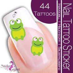 Amazon.com: Nailart NAIL TATTOO STICKER - Comic / Cartoon - Frog - green: Beauty