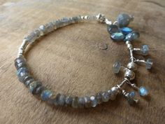 Petite Labradorite Charms Bracelet by kossejewelrydesign on Etsy, $75.00