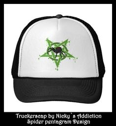 Spider pentagram Truckerscap  print by Nicky`s Addiction