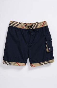 burberry baby boy swim trunks