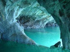 Cavernas de Mármore ou Capela de Mármore, no lago General Carrera, na Patagônia chilena (Foto: Creative Commons/Claudio Alvarado)