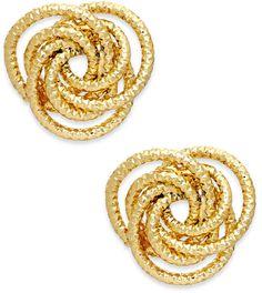 Thalia Sodi Gold-Tone Textured Knot Stud Earrings - KATE SPADE under $15!