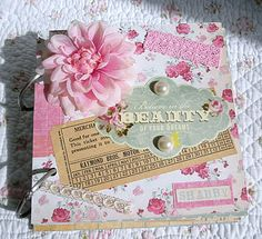 "Shabby, Pink and Pretty: Chipboard Mini Album...""Beauty"""