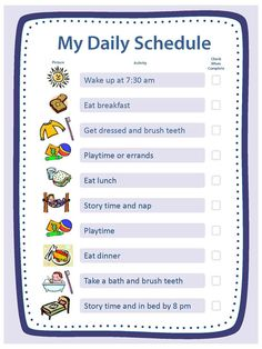 Free Blank Templates for Daily Schedule, Chore Chart, Reward Chart & Family Rules at cdc.gov                                                                                                                                                     More