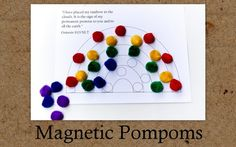 Planet of the Apels: Busy Bag Swap: Day 12 (Magnetic Pompoms)