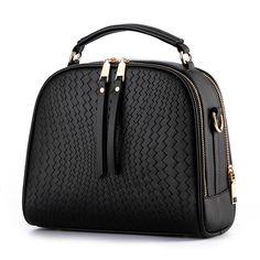 2016 Spring Women Bags Weave Tassel PU Leather Handbags Women Shoulder Knitting Bag Ladies Casual Women Messenger Bags