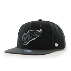 new styles 49258 efddd Detroit Red Wings Night Move Black 47 Brand Adjustable Hat